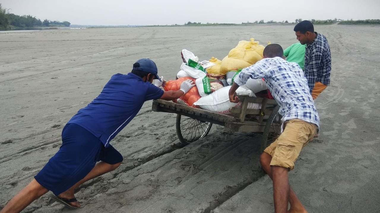 Volunteers in Assam struggling to reach out Char area